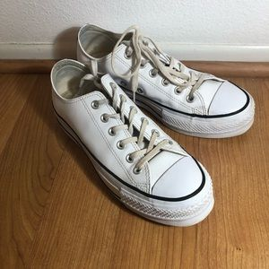 Converse Platform White Leather Sneakers